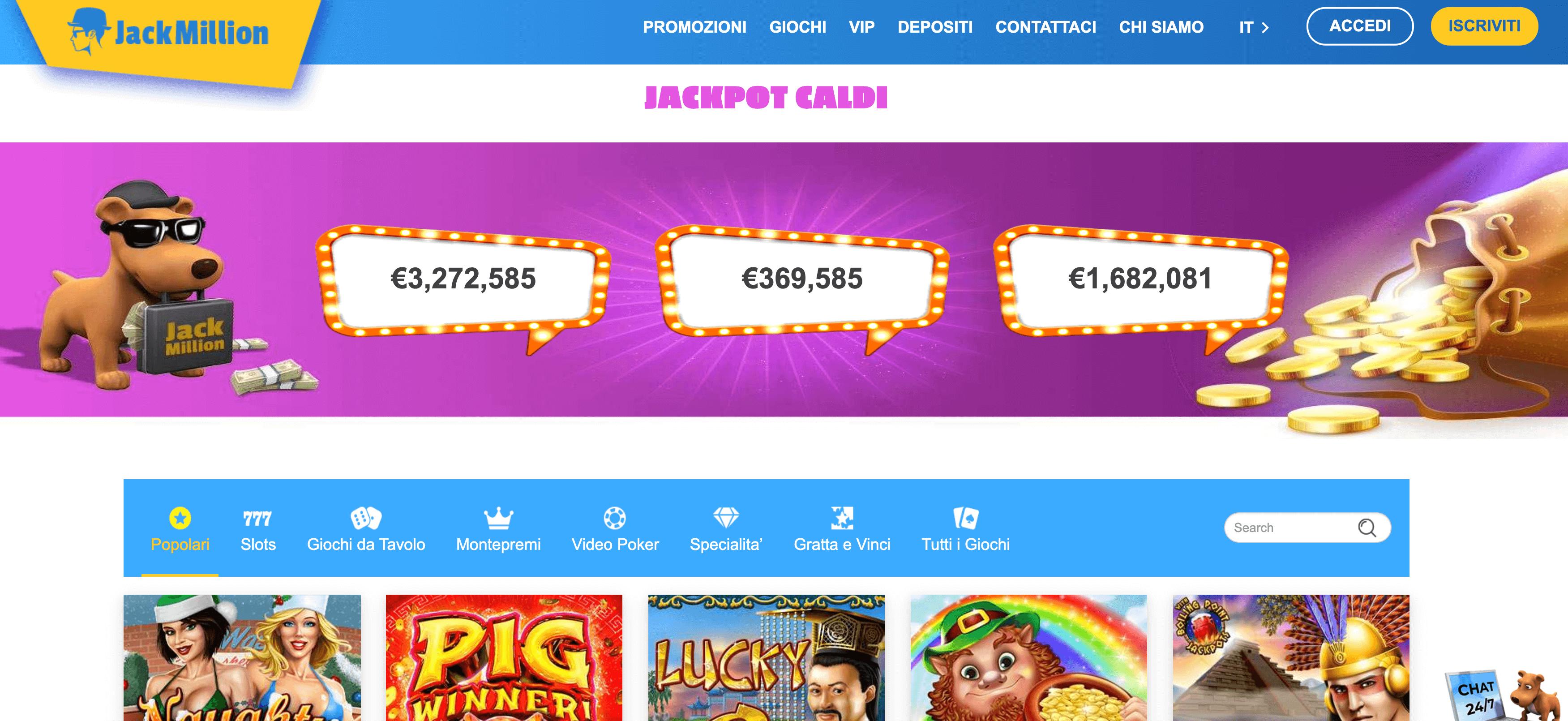 jackmilion casino homepage